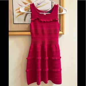 Girls hot pink dress gap kids size s 6/7